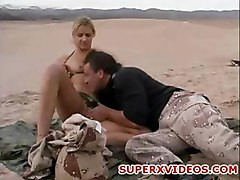 Ashley Long having good sex at the desert horny amateur couple sucking fucking creampie cumshot