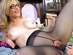 Lesbian Moms and Teens bedroom sex boots pantyhose