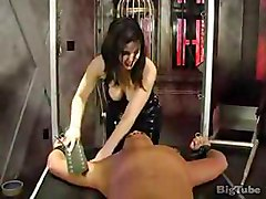 Hot Dominatrix Tortures Man With Little Dick