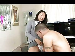 Asian Half hose Secretaries panties riding
