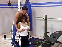Big Tits MILF Latina Big Tits Black-haired Blowjob Couple Cum Shot Gym Latin MILF Oral Sex Piercings Pornstar Shaved Vaginal Sex Alexis Amore
