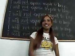 Classroom Stockings Teen redhead schoolgirls