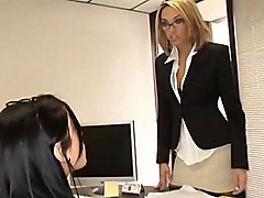 office  secretary  group  business clothes  blonde  brunette  mini  mini skirt  skirt  stockings  at work  clothes off  lick  blowjob  desk  anal  threesome  ffm  