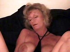 Kinky Granny Using Bottle To Masturbate
