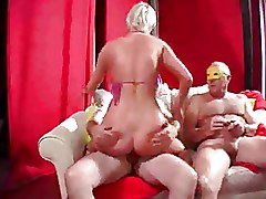 Group Sex MMF Threesome