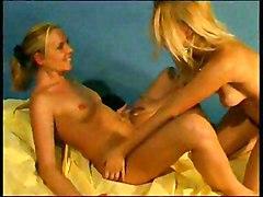 Lesbian Blonde Blonde Caucasian Lesbian Licking Vagina Masturbation Oral Sex Piercings Shaved Toys Vaginal Masturbation