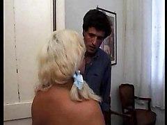 Italian Guy Chisels Half-blind Big Titted Mature