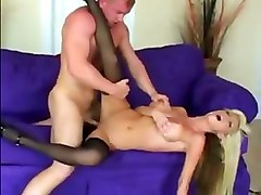 Busty Blonde Milf Fucked In Stockings And Heels