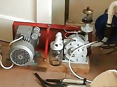 BDSM Bizarre Crazy Mature Milking Machine Sucking european big tits