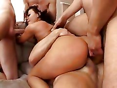 Double Penetration European Gang Bang