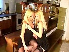 Lesbian Blonde Lingerie Blonde Caucasian Kissing Lesbian Lingerie Striptease