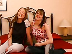 Amateur Lesbian Pussy Licking Stockings