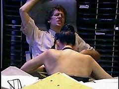 Black-haired Blowjob Caucasian Couple Cum Shot Deepthroat Licking Vagina Office Oral Sex Stockings Vaginal Sex