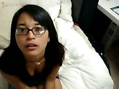 asian latina blowjob cumshot