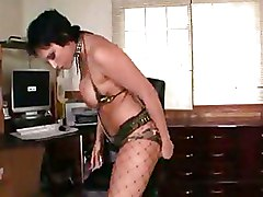 Face Sitting Fishnet fetish milf