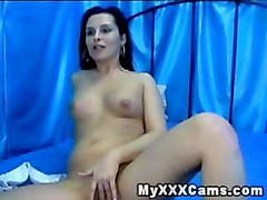 Busty horny pussy fingering masturbation orgasm squirt webcam solo babe coed chick
