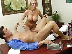 Big Tits Office Riding