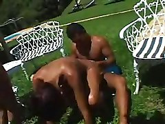 Double Penetration Gang Bang Outdoor