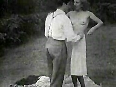 Wild & Crazy Public Vintage Couple Public Spectacular Stockings Vaginal Sex Vintage