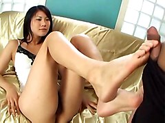 cumshot asian hairypussy fetish footjob japanese jap