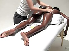 black blackwoman ebony lesbian oiled massage fetish fingering