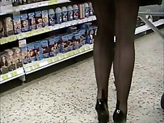 Flashing Stockings Voyeur