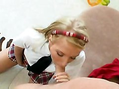 facial teen blonde
