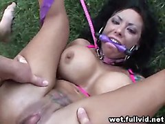 hardcore brunette amateur squirting bdsm bondage outdoors reality straight