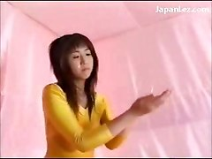 2 Asian Girls In Aerobics Dress Rubbing Tits Pussies Under The Oil Shower