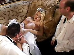 blonde bride blowjob pussyfucking anal cumshot facial