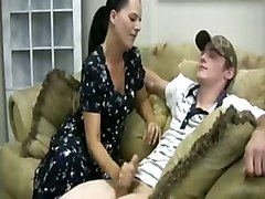 mother handjob milf teen young hand