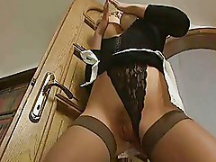 Anal Maids Stockings blonde milf