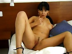 Masturbation Black-haired Caucasian Masturbation Piercings Solo Girl Striptease Vaginal Masturbation