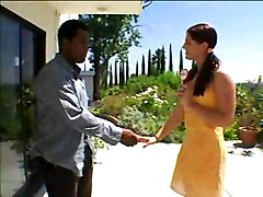 Young Brunette Seducing Black Guy