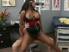 Big Tits Doctors Ebony blowjob boobs brunette busty doctor nurse oral pornstar