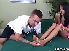 Babes Foot Fetish Footjob Long Legs Toe Sucking