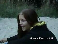 Horny Katja On The Beach