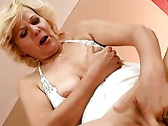 Fingering Granny blowjob