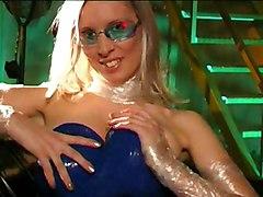 Shiny Bitch In Blue Latex Dress
