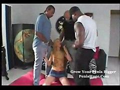 gangbang black dicks anal