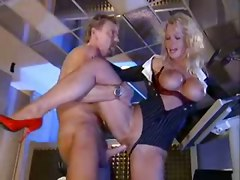 anal cumshot facial blonde milf blowjob clothed busty highheels pussyfucking office secretary german standing