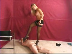 Femdom Feet Worship SpankingOther Fetish Feet Spanking Blonde