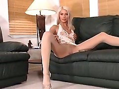 Playtime Pantyhose Stockings Tease Solo Masturbation Strip Solo Softcore Other Fetish Babes