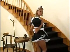 Beautiful French Maid Rides A Hard Dick