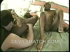 Two Ebony Twins In Anal Action