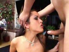 Pornstar Teasing Brunette Big Tits Striptease Chubby Blowjob Deepthroat Face Fuck Tittyfuck Gagging Hardcore Doggystyle Anal Riding Cumshot Latina rough sex