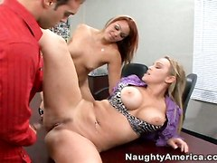 Office Threesome On The Table