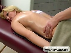 Big Tits Blonde Hannah Harper Massaged And Fucked