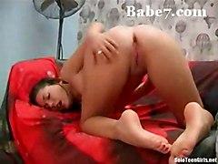 brunette solo shaved masturbation softcore