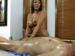 latina oiled milf handjob bigtits massage